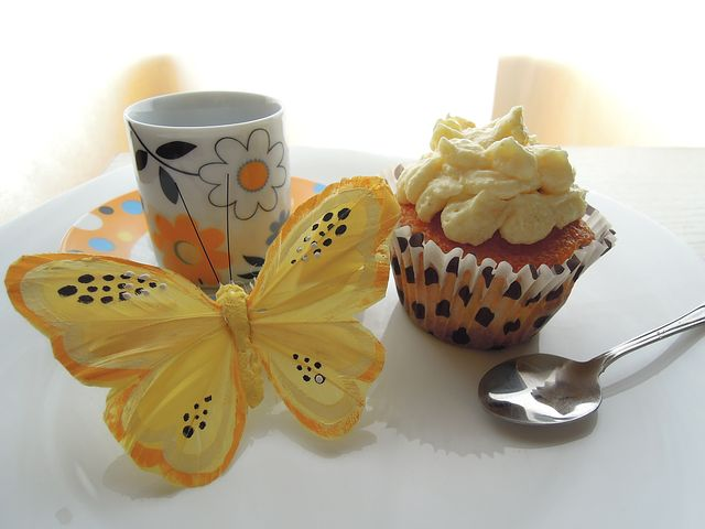 Lemon, Yellow, Butterfly, Pastry, Baking, Polka Dots