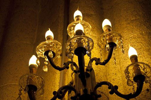 Lamp, Candle, Candlestick, Wall, Church