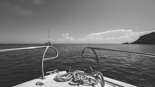 Boat, Water, Sea, Lipari, Eolie, Sicily, Italy, Sky