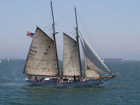 Sailboat, Schooner, Sea, Ship, Vessel, Boat, Travel