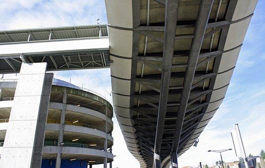 Bridge, Beneath, Under, Bottom, Side, Modern, Freeway