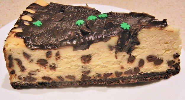 Cheese Cake, Chocolate Chips, Chocolate Topping