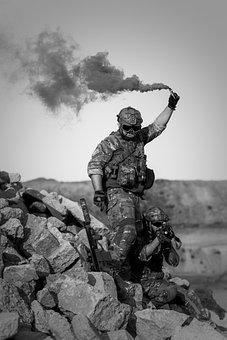 War, Desert, Gunshow, Soldier, Action, Smoke, Sand