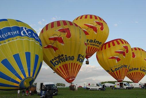 Hot-air Ballooning, Air, Ball, Sky, Lorraine Region
