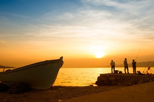 Marine, Landscape, Nature, Peace, Beach, Horizon, Boat