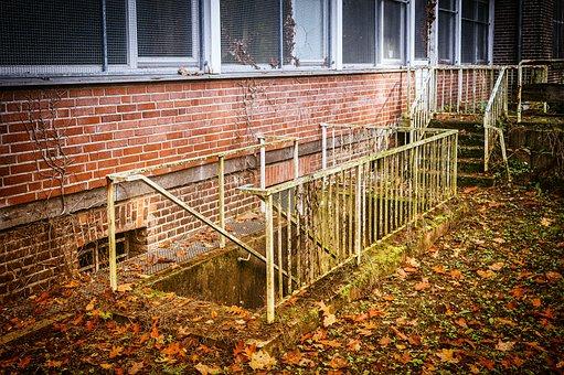 Lost Places, Keller, Pforphoto, Leave, Stairs, Railing