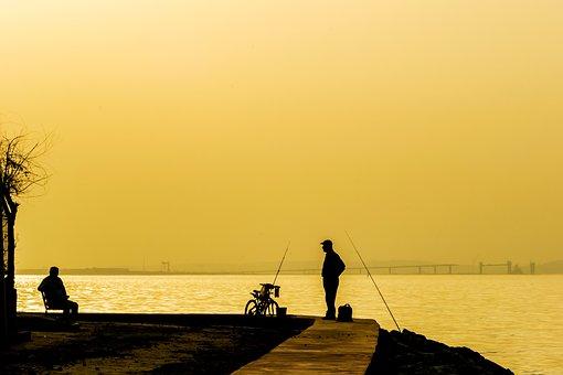 Silhouette, Sunset, Sunset Sea Views, Peace, Nature