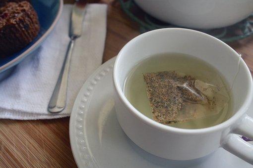 Tea, Cup, Seeping, Tea Bag, Tea Time, Muffin, Breakfast