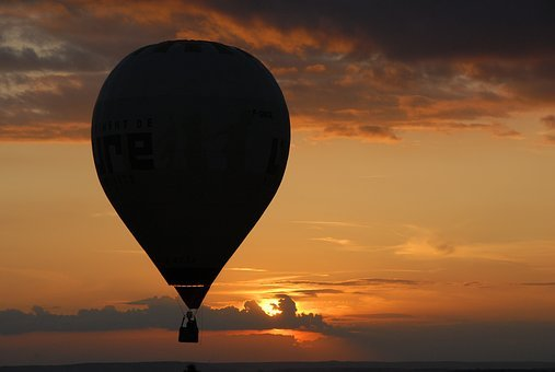 Hot-air Ballooning, Ball, Twilight, Sunset, Air, Sky