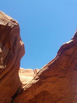 Red Rock, Utah, Park, Red, Usa, Desert, National