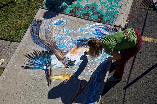 Chalk Drawing, Artistic, Chalk, Drawing, Sketch, Artist
