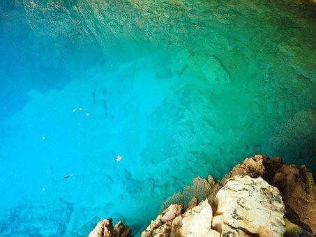 Water, Blue, Shimmer, Bluish, Light, Deep