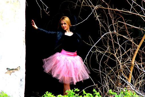 Ballerina, Doll, Tutu Pink