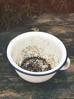The Bowl, Enamel, Potty, Village, Old, Country House