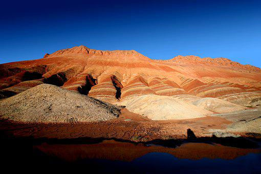 Danxia Landform, Yadan, Zhangye, Strong, Red Rock