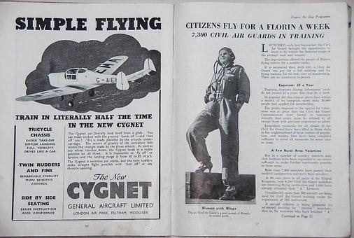 Advert, Plane, Aeroplane, Flying, Woman, Learning