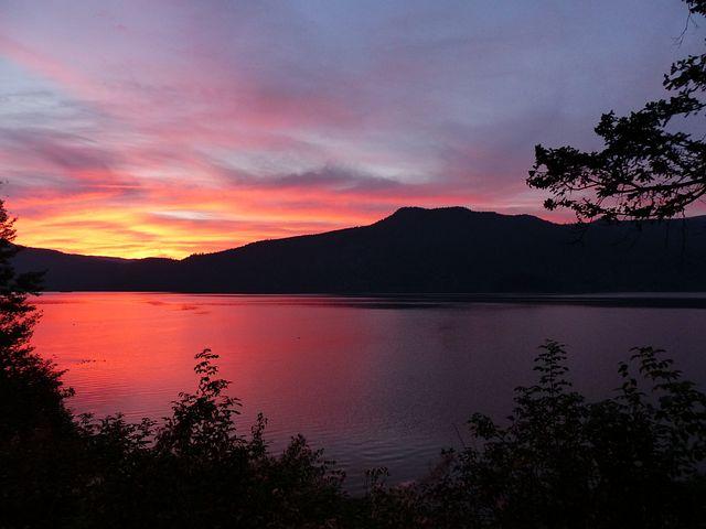 Sun Rise, Canim Lake, British Columbia, Canada, Water