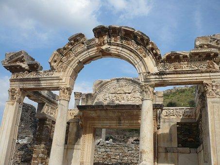 Turkey, Ephesus, Antiquity, Celsus Library, Ruins