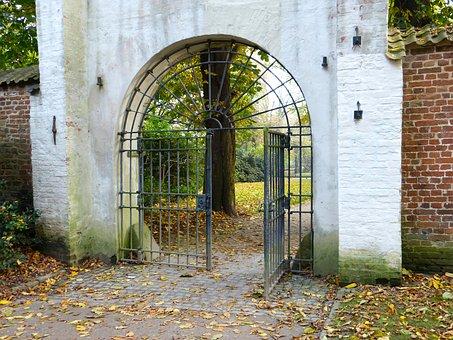 Autumn, Goal, Castle, Park, Husum, Leaves, Input