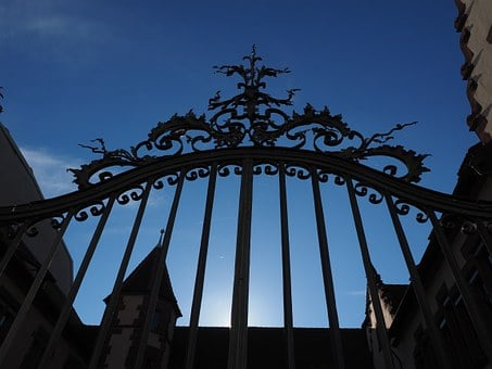 Goal, Gate, Wrought Iron, Grid, Staatsarchiv, Basel