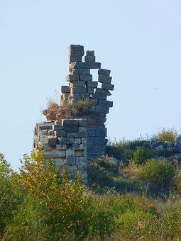 Ruin, Ephesus, Ruined City, Columnar, Stones, Shaky