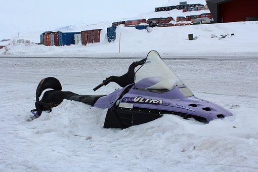 Snowmobile, Snow, Norway, Svalbard