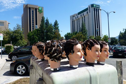 Heads, Hair, Hairdo, Hairstyle, Mannequins, Bizarre