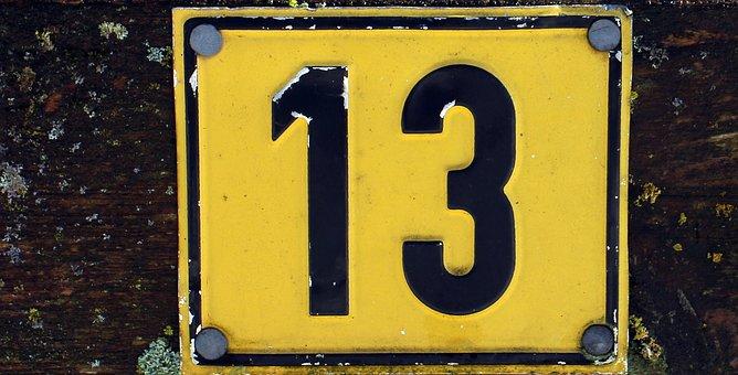 Number, Symbol, Thirteen, Pay, 13, Odd, Unlucky Number
