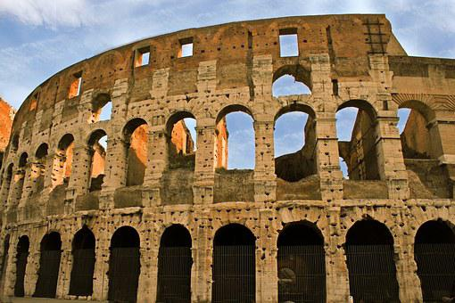 Colosseum, Ruin, Rome, Gladiators, Italy, Building