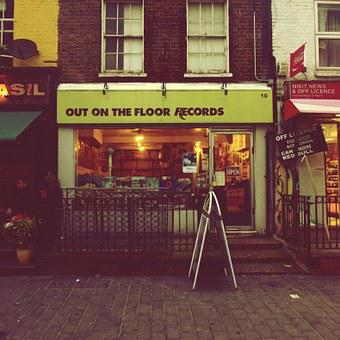 Shop, Records, Vintage, Grunge, Urban, Street, London