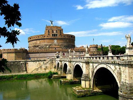 Rome, Castle, Italy, Architecture, Bridge, City, Roman