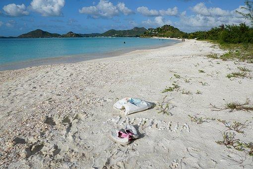 Antigua, Caribbean, Road, Musician, Shoes, Bag, White
