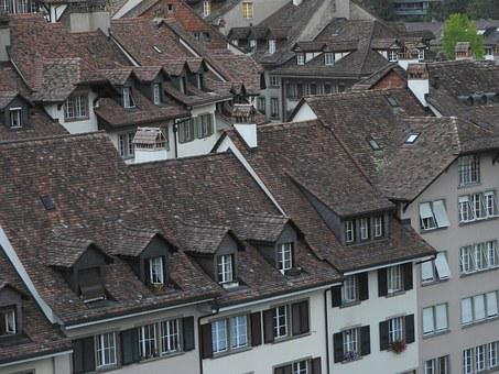 Roofs, Tile Roof, Old Town, Historic