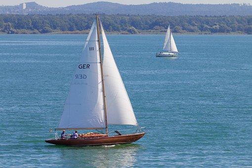 Lake, Sailing Vessel, Wind, Sailboat Ride