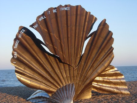 Aldeburgh, Scallop, Beach, Sculpture, Thorpeness