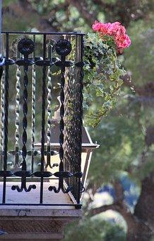 Balcony, Home, Holiday, Accommodation, Wrought Iron