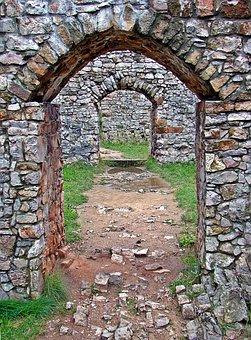 Checiny, Castle, Gateway, Lake Dusia, The Stones