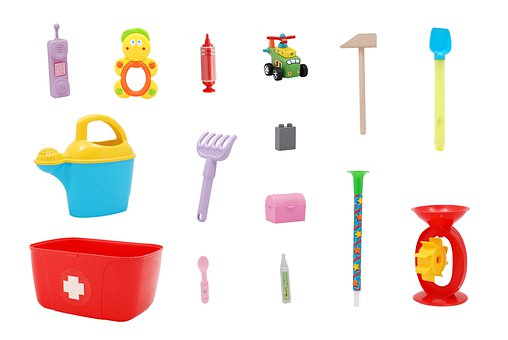Toys, Plastic, Close-up, Child, Playing, Phone, Toy