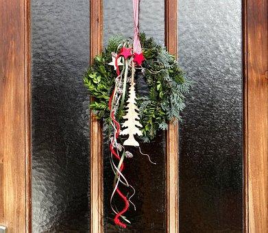 Door Wreath, Advent, Door Decoration In The Advent