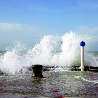 Water, Sea, Wind, Stormy, Weather, Coast, Flood