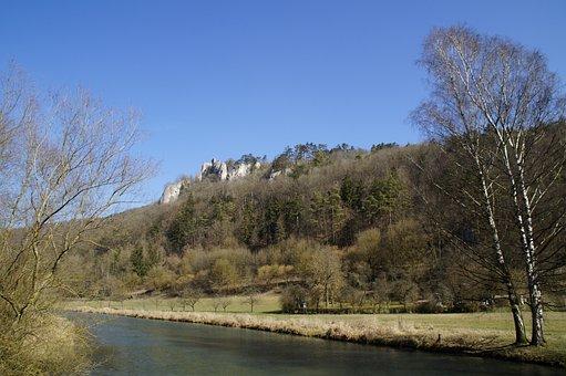 Russians Castle, Blaubeuren, Swabian Alb, Limestone