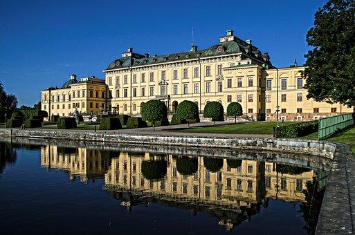 Drottningholm Palace, Castle, Royal Residence, Hdr