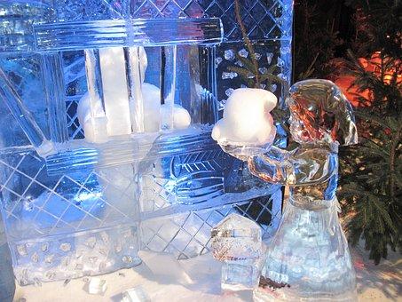 Ice Sculpture, Ice, Festival, Hansel And Gretel