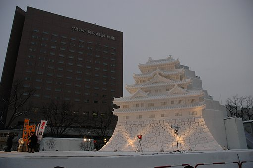 Ice Sculpture, Ice Palace, Japan, Winter Magic, Frozen
