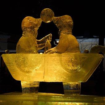 An Ice Sculpture, Jääfestivaali, The Winter Event