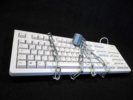 Privacy Policy, Locked, Keyboard, Chain, Castle