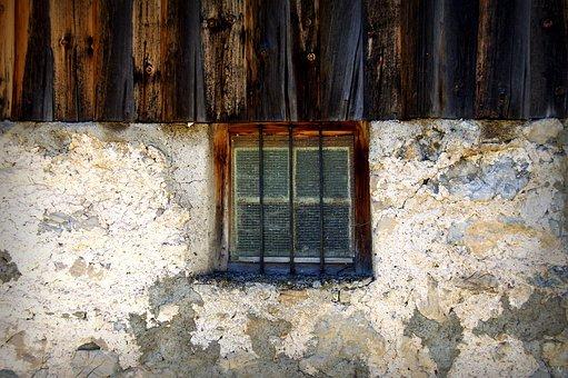 Window, Mountain Hut, Alm, Hike, Hut, Log Cabin