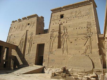 Temple Of Isis, Philae Island, Egypt, Nile, River