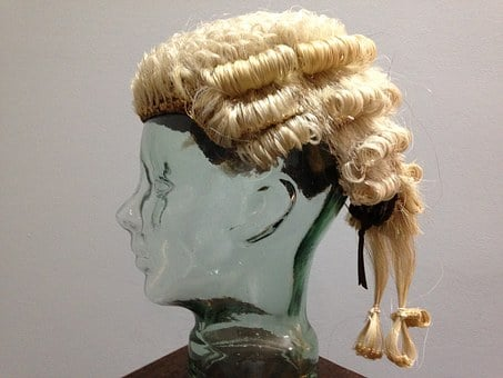 Wig, Lawyer's, Legal, Head Piece, Justice