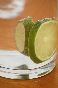 Lemon, Glass, Mineral Water, Carbonic Acid, Drink, Sour